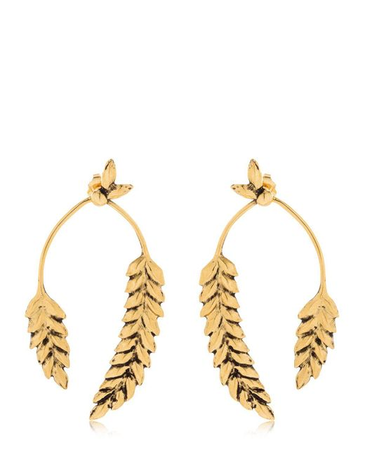 Aurelie Bidermann - Metallic Wheat Earrings - Lyst