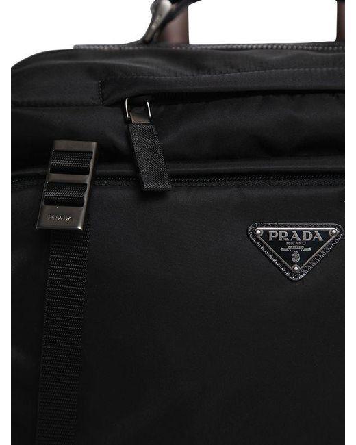 f35b31a7496a ... Prada - Black Multi Pockets Nylon 2-wheel Trolley for Men - Lyst ...