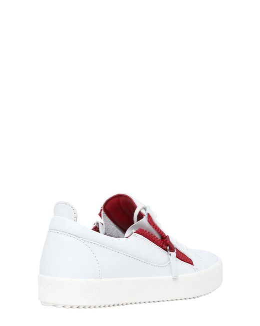 Two Tone Sneakers in White Leather Giuseppe Zanotti RaBSSHRLII