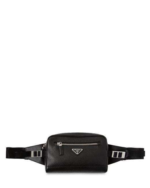 Prada - Black Saffiano Leather Crossbody Bag for Men - Lyst ... a1e203aeb9abb