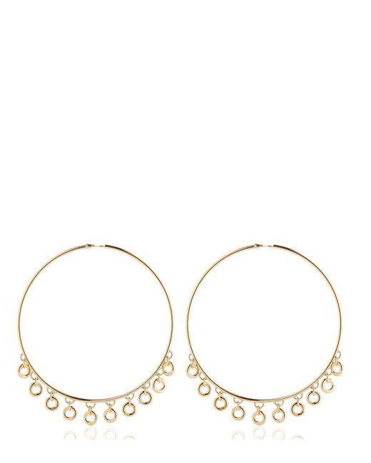 Maria Francesca Pepe | Metallic Lolita Oversized Hoop Earrings | Lyst