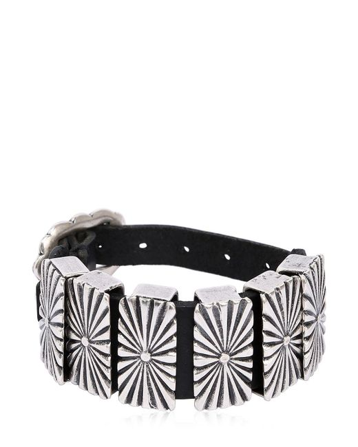 RUST MOOD   Black Leather Bracelet W/ Metal Detail   Lyst