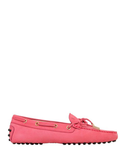 Tod's   Pink Heaven Laccetto Nubuck Driving Shoes   Lyst