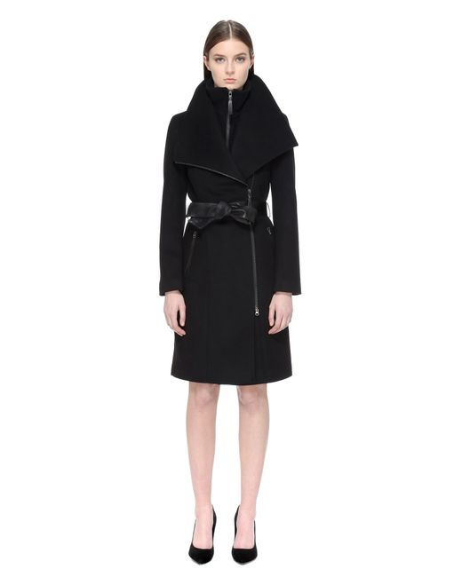 Mackage | Black Wool-Blend Coat | Lyst