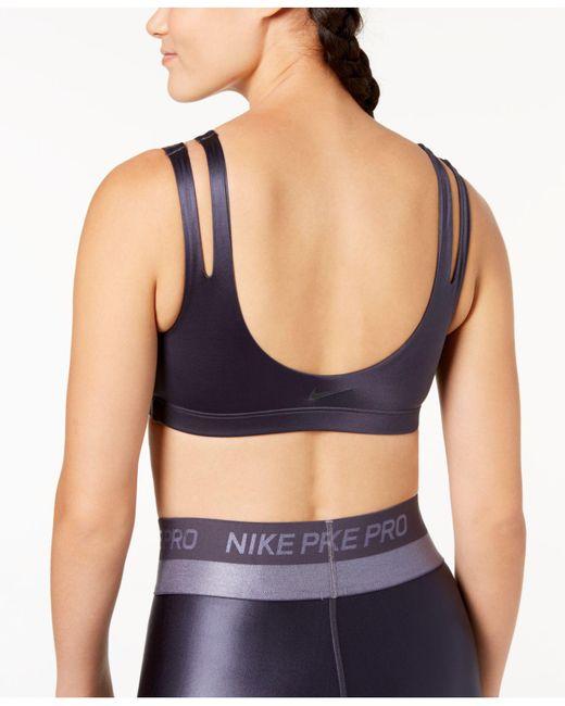 ba5a3f20e8 ... Nike - Blue Indy Shine Light-support Sports Bra - Lyst