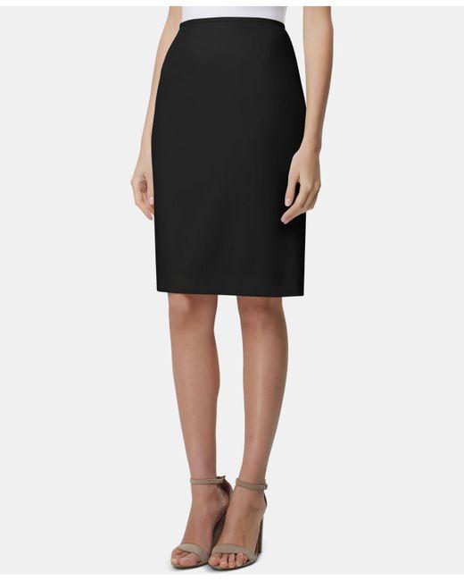 Tahari - Black Chalk Pinstripe Stretch Woven Suiting Pencil Skirt - Lyst