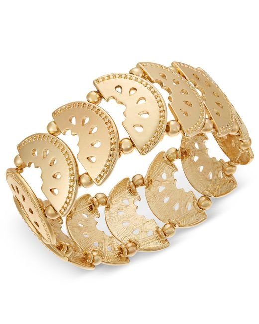 INC International Concepts - Metallic I.n.c. Gold-tone Watermelon Stretch Bracelet, Created For Macy's - Lyst