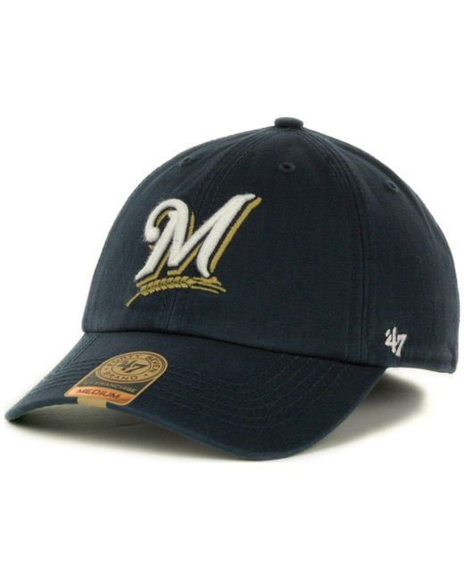47 Brand - Blue Milwaukee Brewers Franchise Cap for Men - Lyst ... 72bb6dbc9610