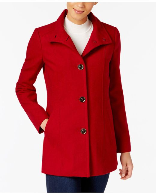 INC International Concepts   Red Stand-collar Peacoat   Lyst