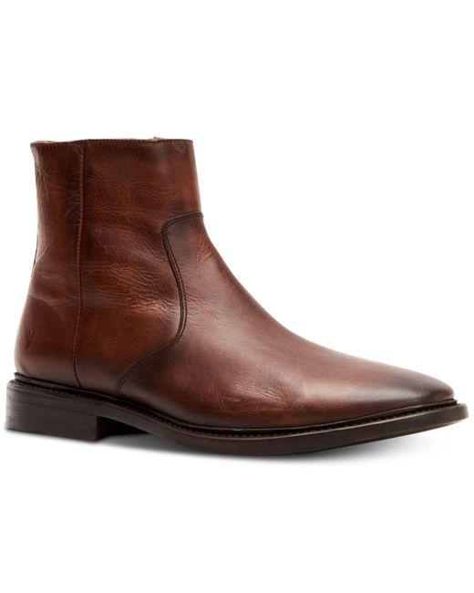 Frye - Brown Paul Inside Zip Boots for Men - Lyst
