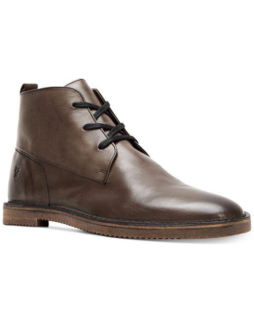 Frye - Brown Ashland Leather Chukkas for Men - Lyst