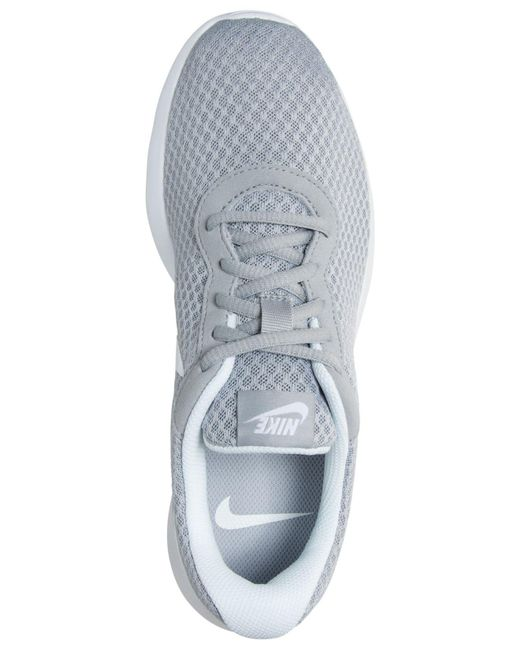 Lyst - Nike Women s Tanjun Casual Sneakers From Finish Line in Gray e5c74ace0