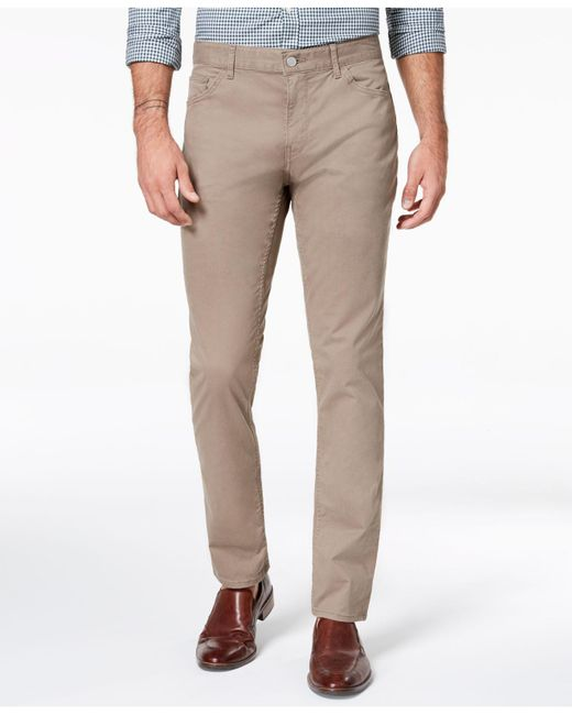 Michael Kors - Brown Parker Slim-fit Stretch Pants for Men - Lyst