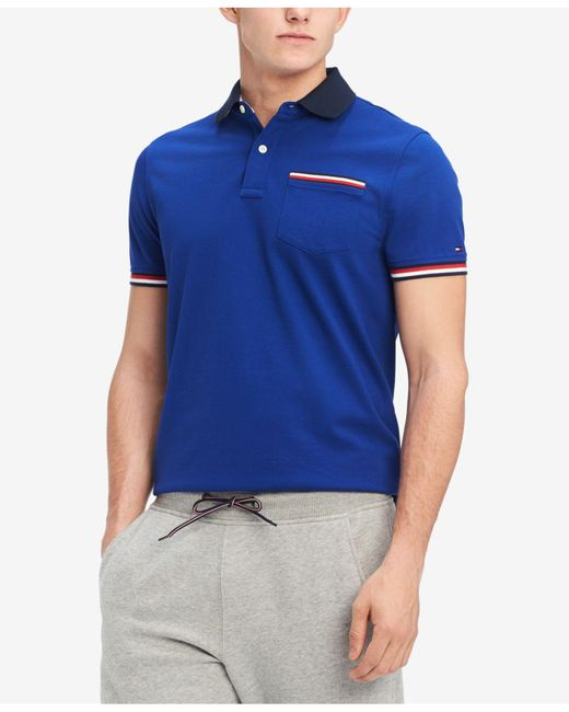 Tommy Hilfiger - Blue Homer Custom Fit Polo Shirt, Created For Macy's for Men - Lyst