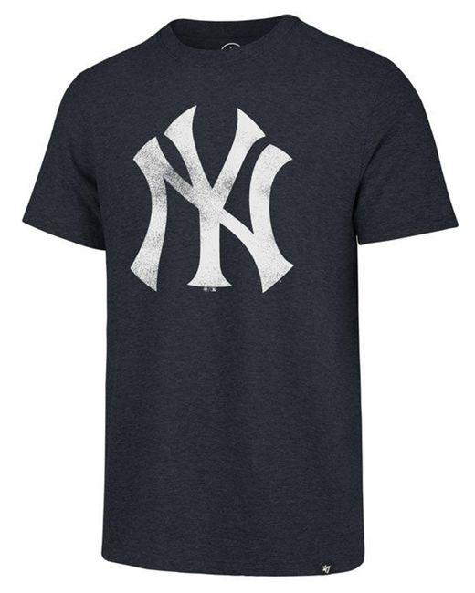 47 Brand - Blue New York Yankees Coop Tri-blend Match T-shirt for Men - Lyst