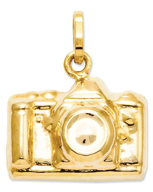 Macy's - Metallic 14k Gold Charm, Camera Charm - Lyst