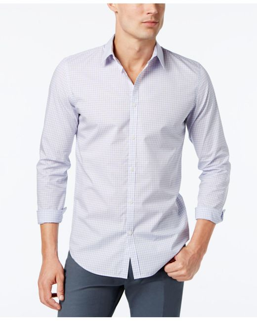 Calvin Klein | Purple Infinite Cool Non-iron Slim-fit Shirt for Men | Lyst