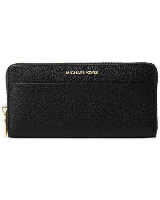 Michael Kors | Black Studio Mercer Zip-around Continental Wallet | Lyst