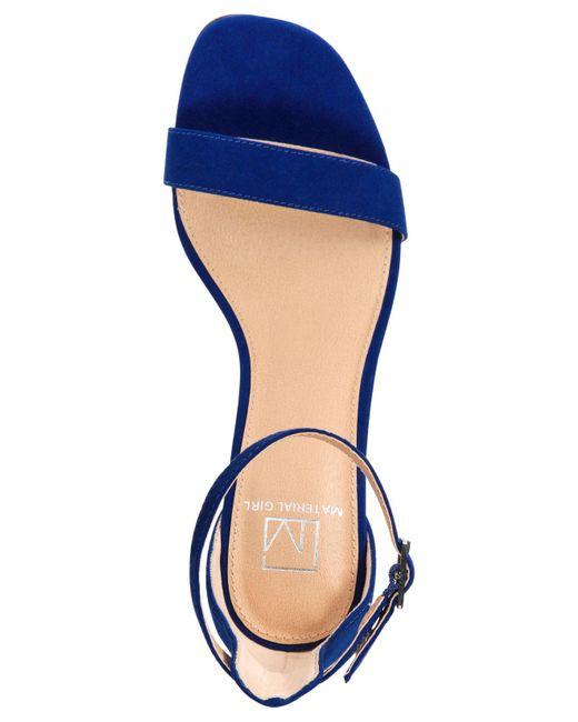 5d5619241a1 ... Material Girl - Blue Blaire Two-piece Dress Sandals