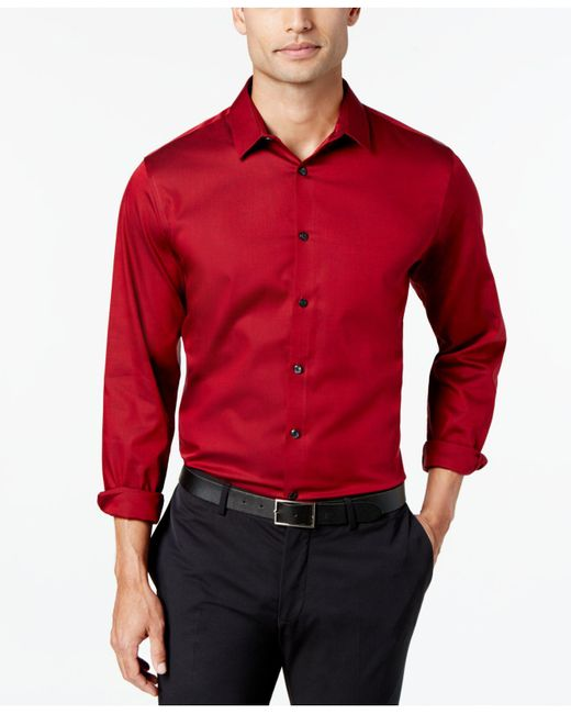 INC International Concepts | Red Joshua Non-iron Shirt for Men | Lyst