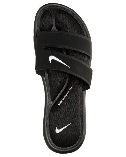 9fd9e0683c16 ... Nike - Black Women s Ultra Comfort Slide Sandals From Finish Line ...