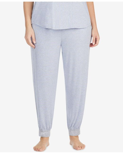 DKNY - Multicolor Plus Size Striped Cropped Pajama Pants - Lyst