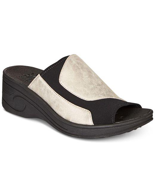 Easy Street - Multicolor Slight Wedge Sandals - Lyst