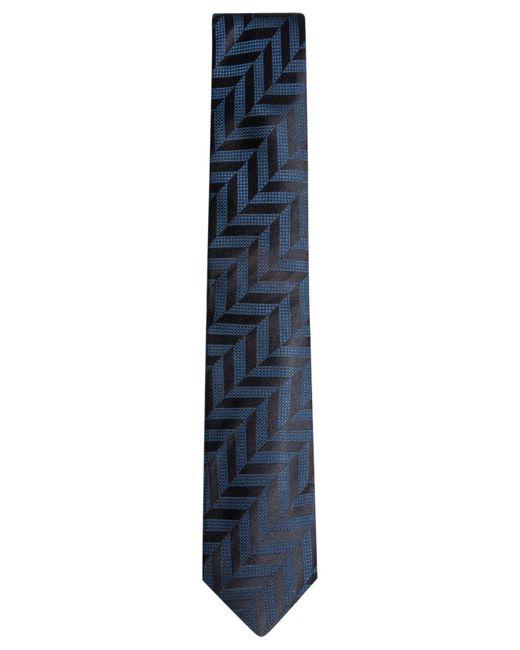 Alfani   Blue Men's Geometric Silk Skinny Tie for Men   Lyst