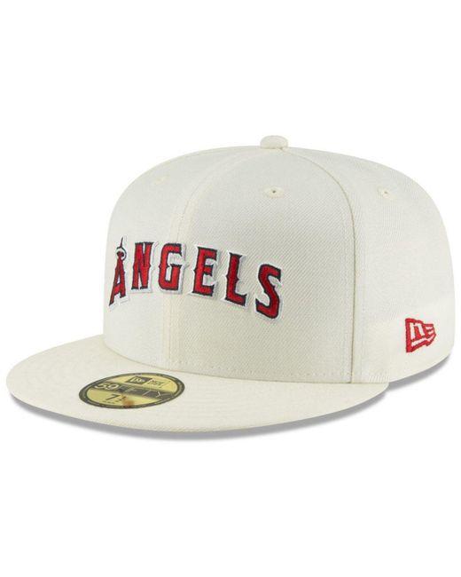 20ce2d0196e KTZ - White Los Angeles Angels Vintage World Series Patch 59fifty Cap for  Men - Lyst ...