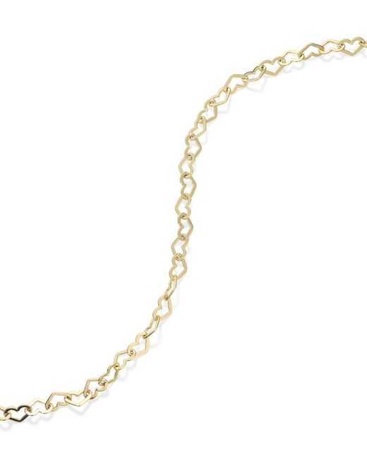 Giani Bernini - Metallic 24k Gold Over Sterling Silver Anklet, Heart Chain Anklet - Lyst