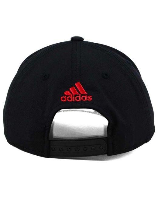d09fa9777b9 ... Adidas - Black Slashing Adjustable Cap for Men - Lyst