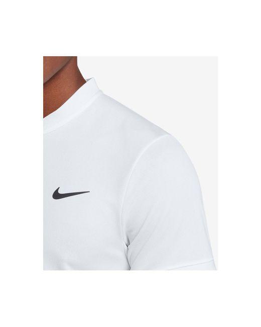 d2bb06b1 ... Nike - White Court Dry Blade-collar Tennis Polo for Men - Lyst ...