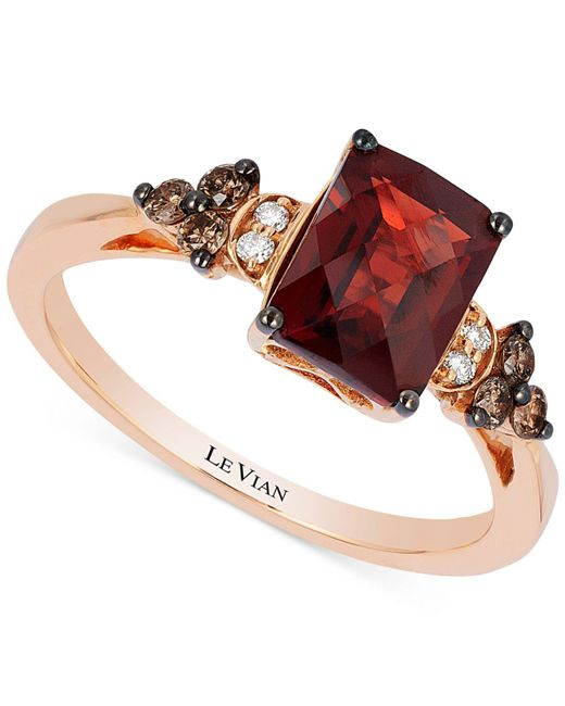 Le Vian | Pink Garnet (1-5/8 Ct. T.w.) And Diamond (1/5 Ct. T.w.) Ring In 14k Rose Gold | Lyst
