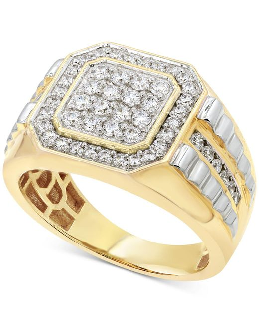 Macy's - Metallic Diamond Two-tone Ring (1 Ct. T.w.) In 10k Gold & White Gold - Lyst