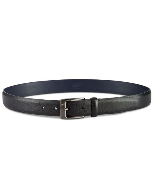 Original Penguin - Black Sun Tanned Leather Belt for Men - Lyst
