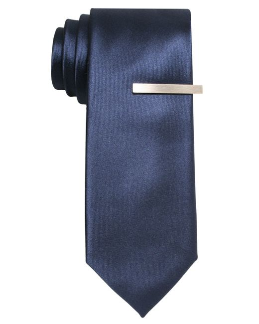 Alfani | Blue Pindot Skinny Tie for Men | Lyst