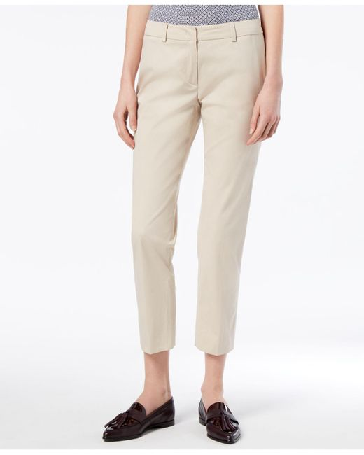 Weekend by Maxmara - Natural Cropped Straight-leg Pants - Lyst
