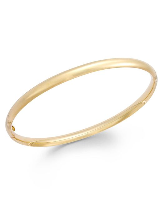 Macy's - Metallic Stackable Bangle Bracelet In 14k Gold - Lyst