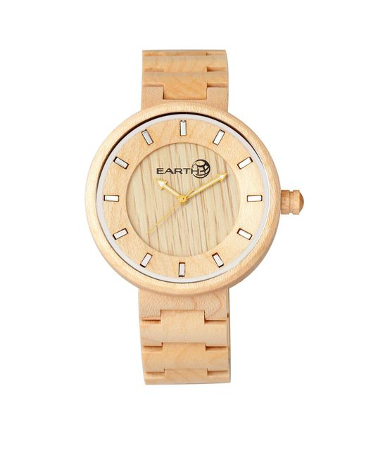 Earth Wood - Metallic Branch Wood Bracelet Watch Khaki 45mm - Lyst