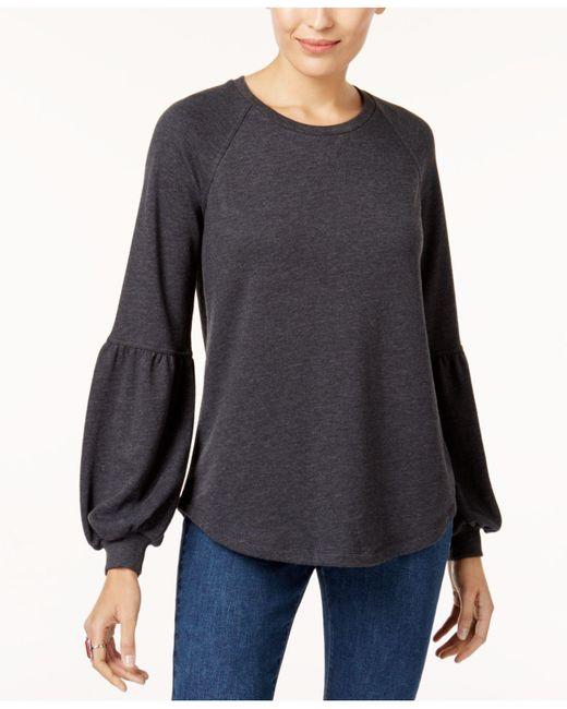 Style & Co. - Black Bishop-sleeve Sweatshirt - Lyst