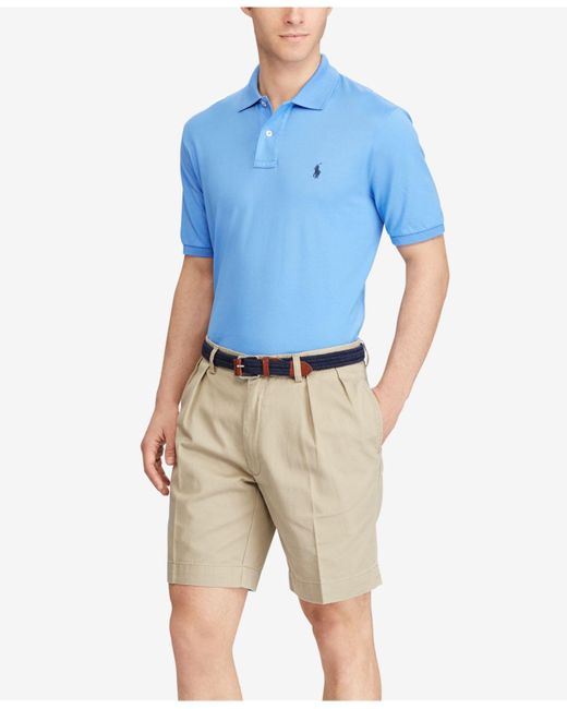 Polo ralph lauren Classic-fit Pleated Chino Shorts in Brown for ...