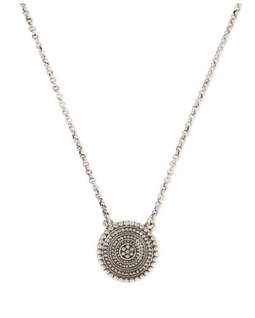 Lucky Brand | Metallic Silver-tone Pendant Necklace | Lyst