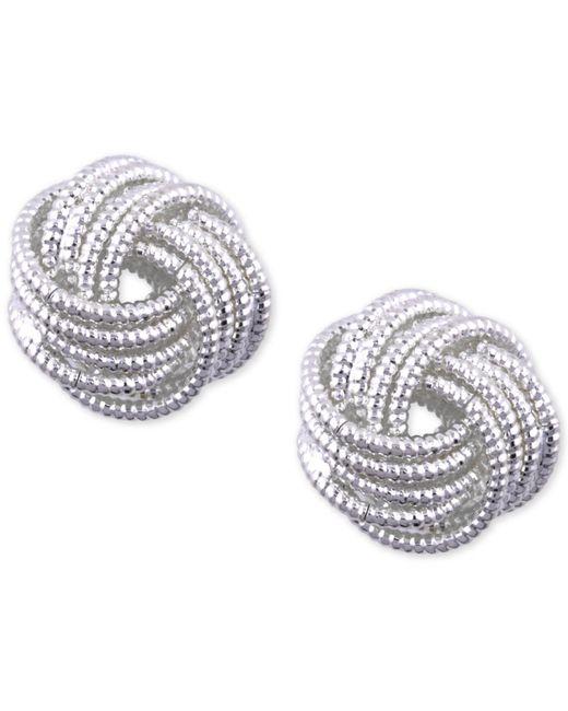 Nine West | Metallic Chain Gang Knot Earrings | Lyst