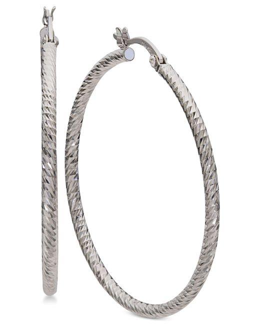 Giani Bernini - Metallic Large Hoop Earrings In Sterling Silver - Lyst