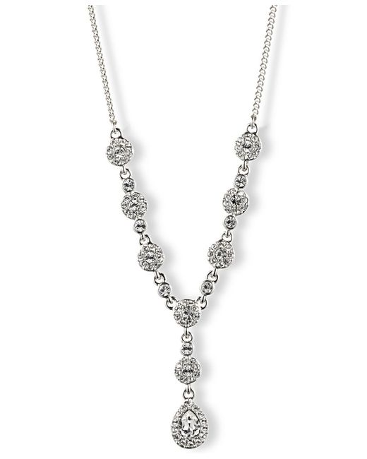 Givenchy | Metallic Crystal Y Necklace | Lyst