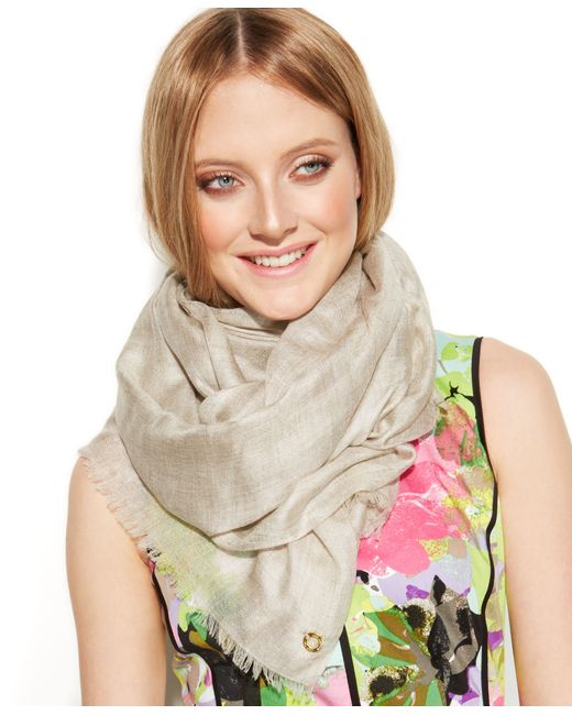 Calvin Klein   Brown Oversized Cashmere Modal Wrap   Lyst