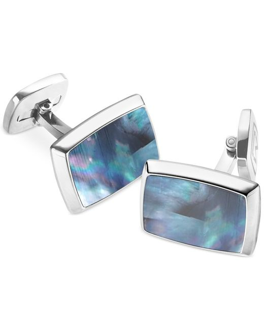 M-clip | Blue Mother Of Pearl Rectangle Cufflinks for Men | Lyst