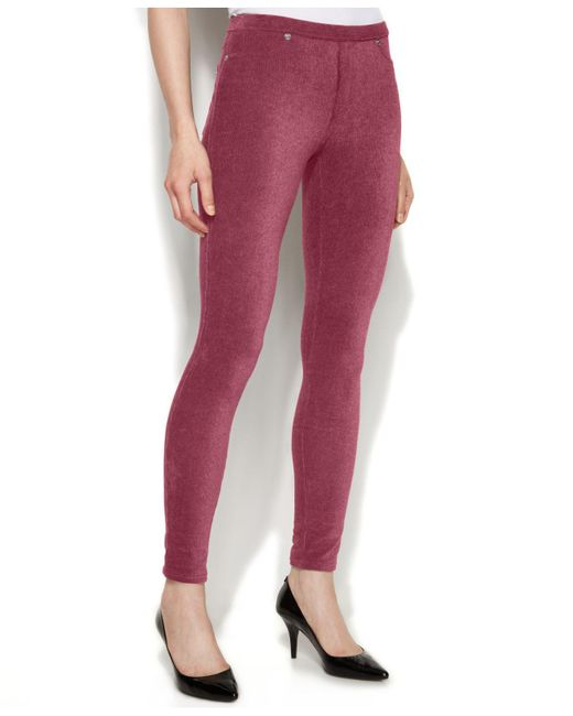 Michael Kors | Red Michael Petite Stretch Corduroy Leggings | Lyst