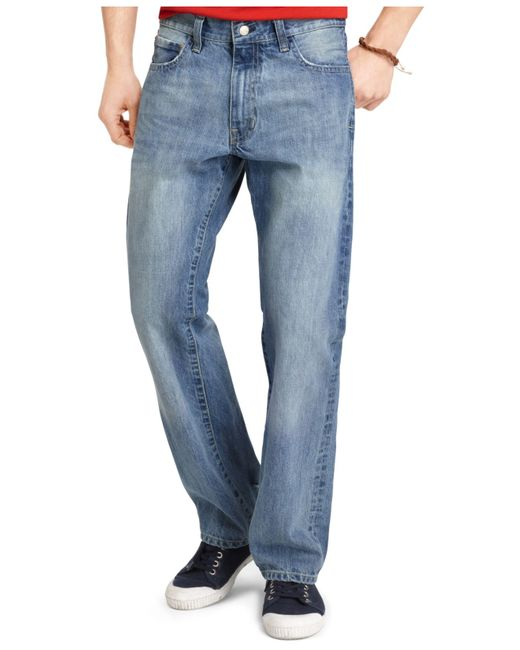 Izod | Blue Big And Tall Relaxed Fit Jeans, Medium Vintage Wash for Men | Lyst