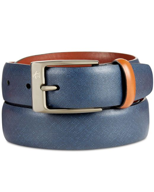 Original Penguin - Blue Men's Sun Tanned Leather Belt for Men - Lyst